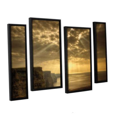 Brushstone Heavenly 4-pc. Floater Framed Canvas Staggered Set