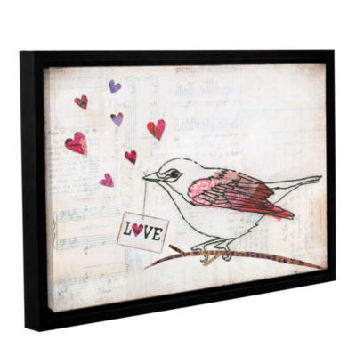 Brushstone Love Birds II Love Gallery Wrapped Floater-Framed Canvas Wall Art