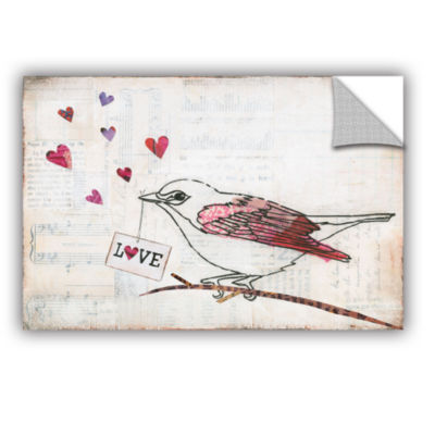 Brushstone Love Birds II Love Removable Wall Decal