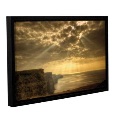 Brushstone Heavenly Gallery Wrapped Floater-FramedCanvas