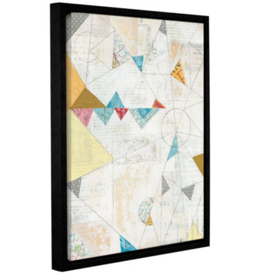 Brushstone Map Collage Gallery Wrapped Floater-Framed Canvas Wall Art
