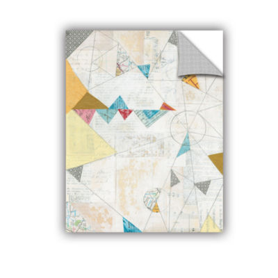 Brushstone Map Collage Removable Wall Decal