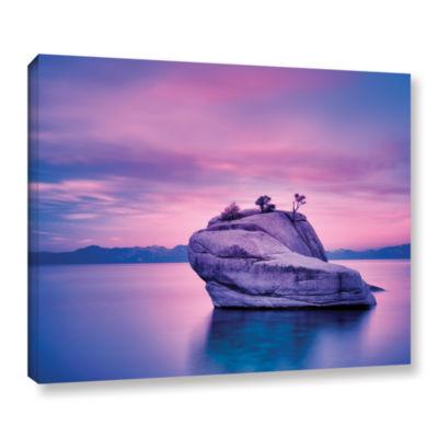 Brushstone Island Sunset Gallery Wrapped Canvas
