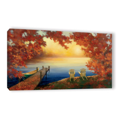 Brushstone Autumn Glow Crop v2 Gallery Wrapped Canvas Wall Art