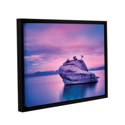 Brushstone Island Sunset Gallery Wrapped Floater-Framed Canvas