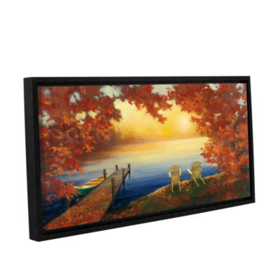Brushstone Autumn Glow Crop v2 Gallery Wrapped Floater-Framed Canvas Wall Art