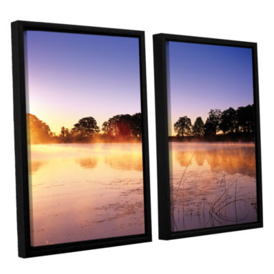 Brushstone Morning 2-pc. Floater Framed Canvas Set