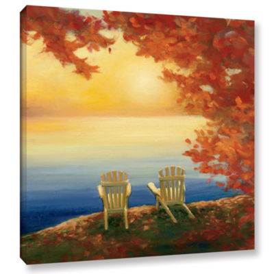Brushstone Autumn Glow II Gallery Wrapped Canvas Wall Art