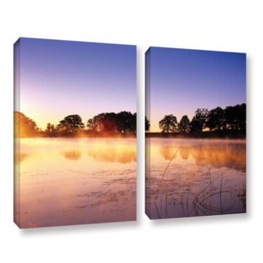 Brushstone Morning 2-pc. Gallery Wrapped Canvas Set