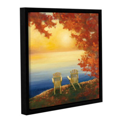 Brushstone Autumn Glow II Gallery Wrapped Floater-Framed Canvas Wall Art