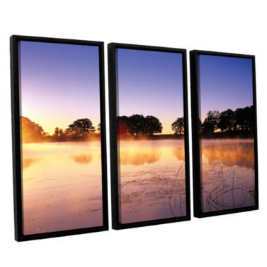 Brushstone Morning 3-pc. Floater Framed Canvas Set