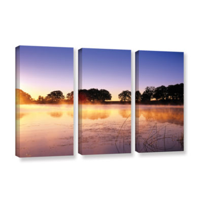 Brushstone Morning 3-pc. Gallery Wrapped Canvas Set