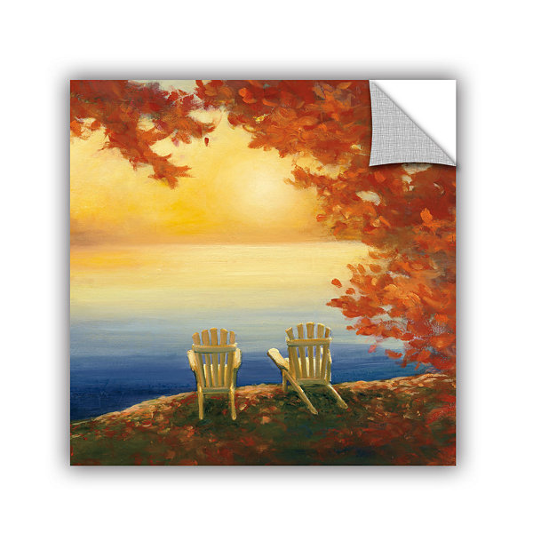 Brushstone Autumn Glow II Removable Wall Decal