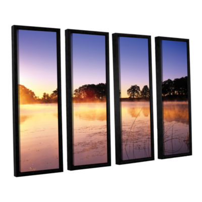 Brushstone Morning 4-pc. Floater Framed Canvas Set