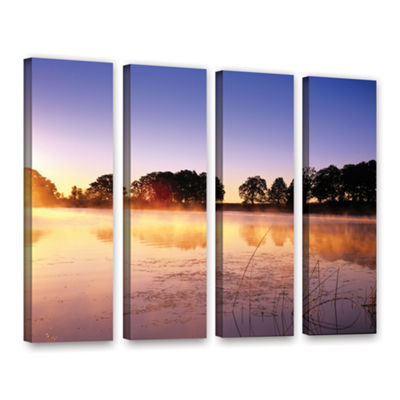 Brushstone Morning 4-pc. Gallery Wrapped Canvas Set