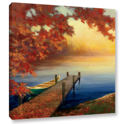 Brushstone Autumn Glow III Gallery Wrapped CanvasWall Art