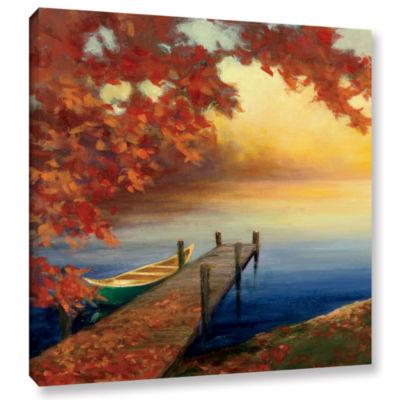 Brushstone Autumn Glow III Gallery Wrapped CanvasWall Art