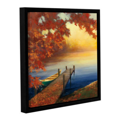 Brushstone Autumn Glow III Gallery Wrapped Floater-Framed Canvas Wall Art