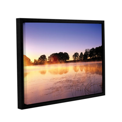Brushstone Morning Gallery Wrapped Floater-FramedCanvas