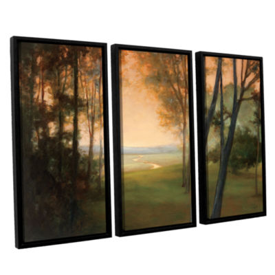 Brushstone Between The Worlds 3-pc. Floater FramedCanvas Wall Art