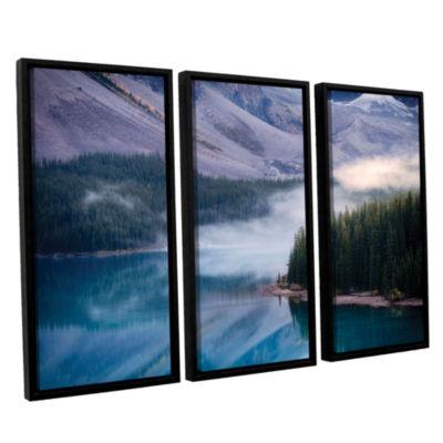 Brushstone Mountain Mist 3-pc. Floater Framed Canvas Set
