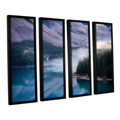 Brushstone Mountain Mist 4-pc. Floater Framed Canvas Set