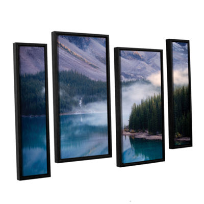 Brushstone Mountain Mist 4-pc. Floater Framed Canvas Staggered Set