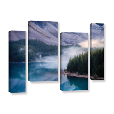 Brushstone Mountain Mist 4-pc. Gallery Wrapped Canvas Staggered Set