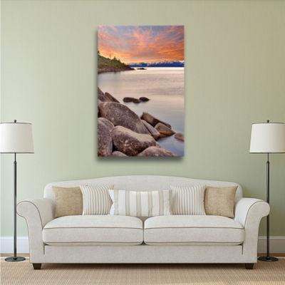 Brushstone Orange Skies Gallery Wrapped Canvas