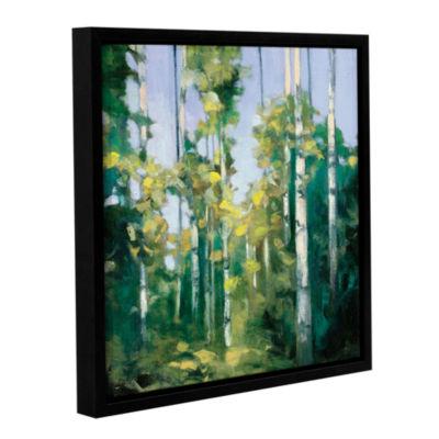 Brushstone Birches Gallery Wrapped Floater-FramedCanvas Wall Art