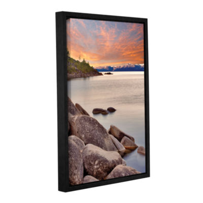 Brushstone Orange Skies Gallery Wrapped Floater-Framed Canvas