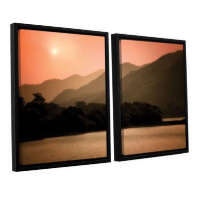 Brushstone Peach Dream 2-pc. Floater Framed CanvasSet