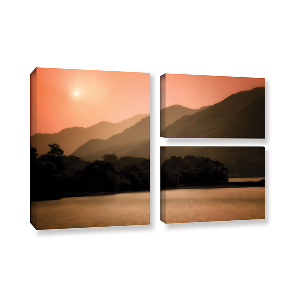 Brushstone Peach Dream 3-pc. Gallery Wrapped Canvas Flag Set