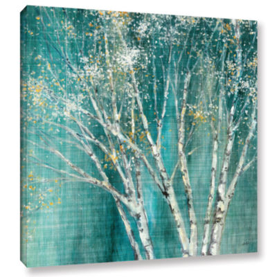 Brushstone Blue Birch Gallery Wrapped Canvas WallArt
