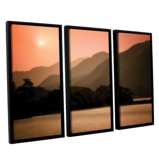 Brushstone Peach Dream 3-pc. Floater Framed CanvasSet