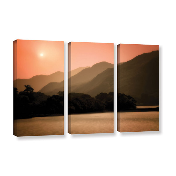Brushstone Peach Dream 3-pc. Gallery Wrapped Canvas Set