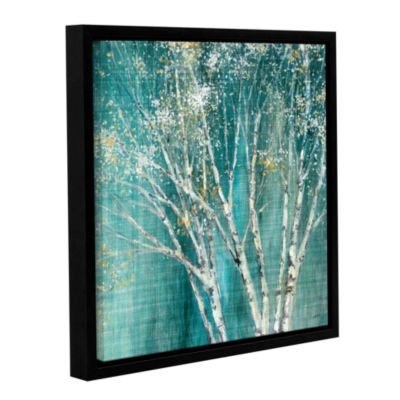 Brushstone Blue Birch Gallery Wrapped Floater-Framed Canvas Wall Art