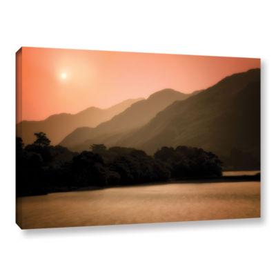 Brushstone Peach Dream Gallery Wrapped Canvas