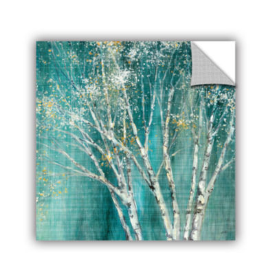 Brushstone Blue Birch Removable Wall Decal