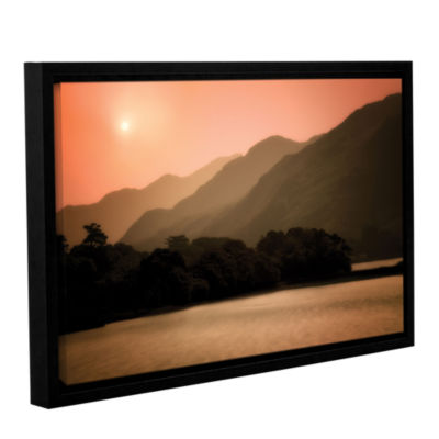 Brushstone Peach Dream Gallery Wrapped Floater-Framed Canvas