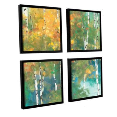 Brushstone Confetti I 4-pc. Square Floater FramedCanvas Wall Art