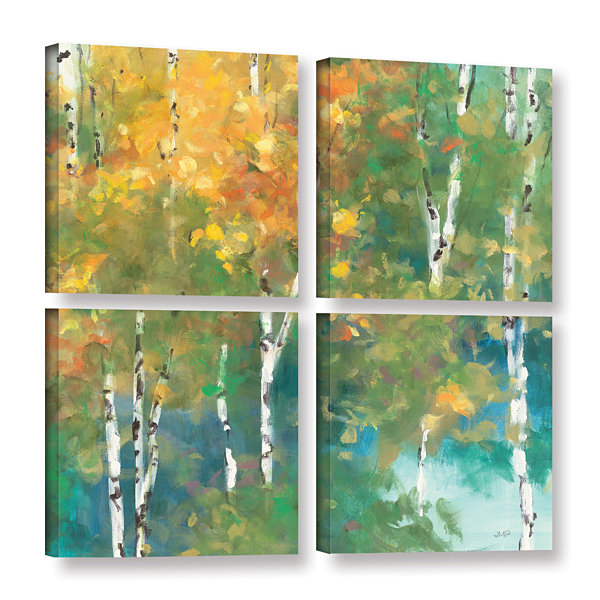 Brushstone Confetti I 4-pc. Square Floater Framed Canvas Wall Art