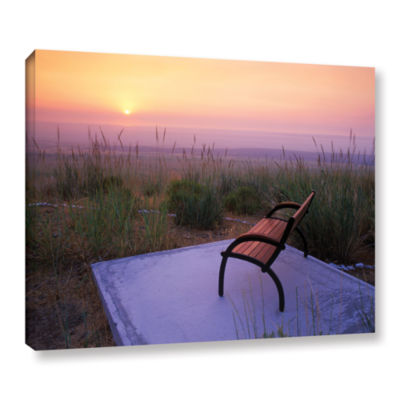 Brushstone Peach Sunset Gallery Wrapped Canvas Wall Art