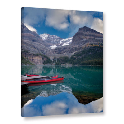 Brushstone Red Conoes Gallery Wrapped Canvas