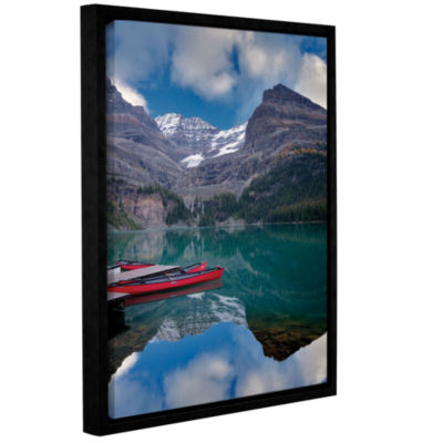 Brushstone Red Conoes Gallery Wrapped Floater-Framed Canvas Wall Art