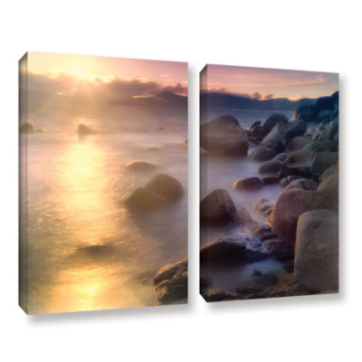 Brushstone Rocks And Water 2-pc. Gallery Wrapped Canvas Set