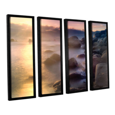 Brushstone Rocks And Water 4-pc. Floater Framed Canvas Set