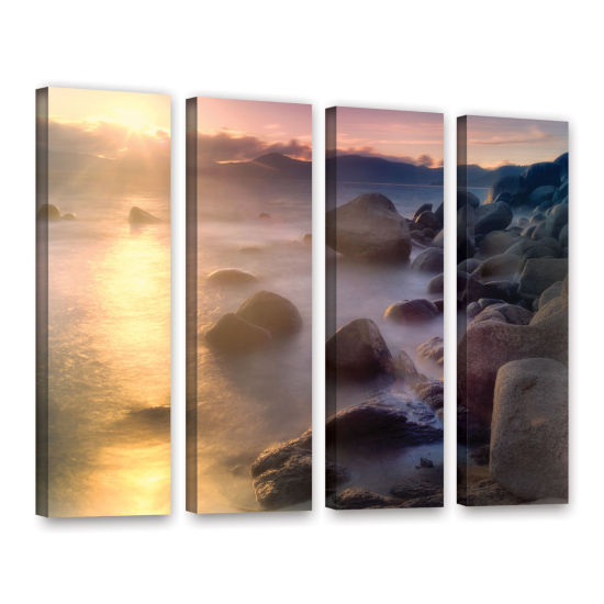 Brushstone Rocks And Water 4-pc. Gallery Wrapped Canvas Set
