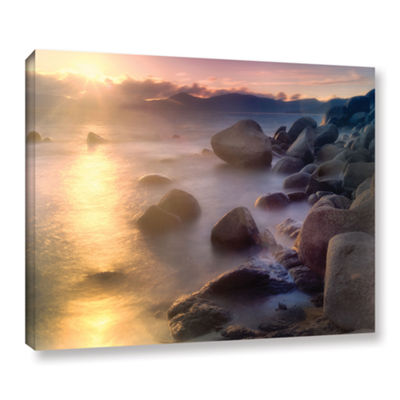 Brushstone Rocks And Water Gallery Wrapped Canvas