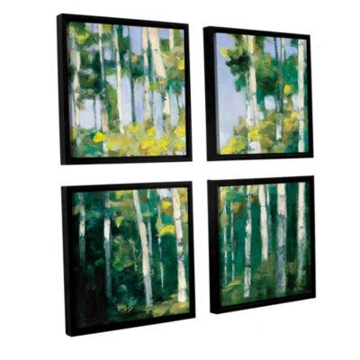 Brushstone Cripple Creek 4-pc. Square Floater Framed Canvas Wall Art